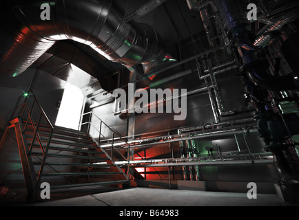 Boiler room - Stock Image
