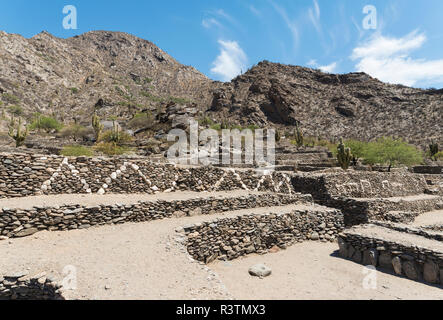 Ruins of Quilmes near Tucuman and Cafayate. Quilmes is considered as the biggest pre-Columbian settlement in Argentina. (Editorial Use Only) - Stock Image