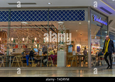 Carluccio's Deli and Dining inside WestQuay shopping centre, Southampton, England, UK - Stock Image