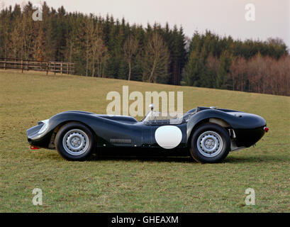 1959 Lister Jaguar 3 8 litre racing 2 seater Country of origin United Kingdom - Stock Image