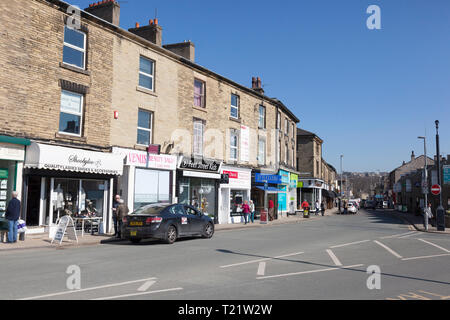 View along Commercial Street, Brighouse, West Yorkshire - Stock Image