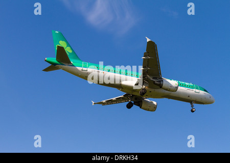 Air Lingus, Airbus A320 to land - Stock Image