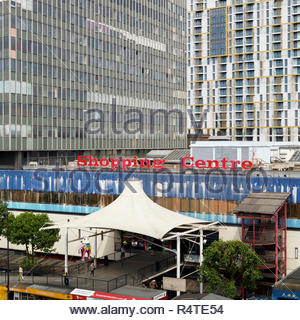 Birds eye view of the Elephant and Castle Shopping Centre: London. - Stock Image