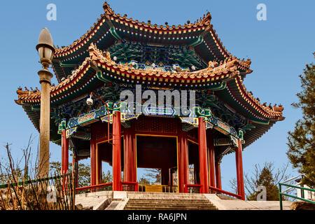 Front Gate Jingshan Park Beijing China - Stock Image