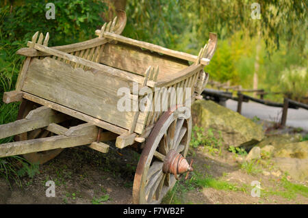 Hand Pulled Cart - Southeast Asia - Stock Image