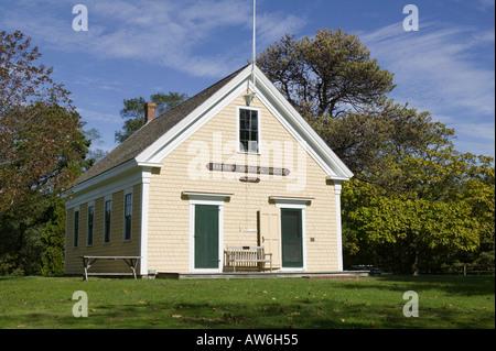 Old Schoolhouse Cape Cod Massachusetts - Stock Image