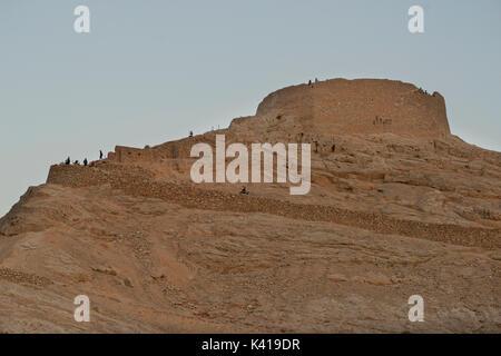 One of the Zoroastrian Towers of Silence, Yazd, Iran - Stock Image