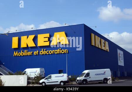 Ikea, furniture and decoration shop, Clermont-Ferrand, Puy-de-Dome, Auvergne,  France - Stock Image