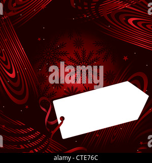 christmas greeting card with copy space - Stock Image