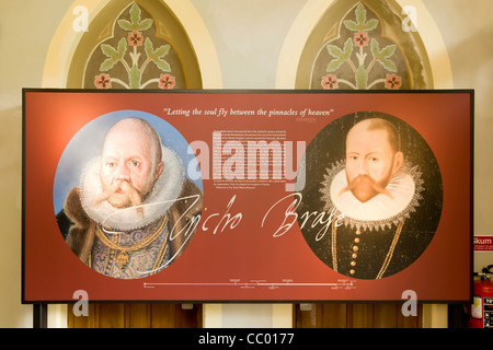 Inside The Tycho Brahe museum on the island of Hven in Oresund - Stock Image