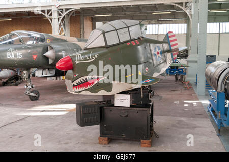 Link trainer ANT-18 (Army Navy Trainer model 18), a vintage pilot trainer built in 1943, serving as instrument flight - Stock Image