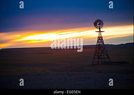 Montana Landscape Sunset - Stock Image