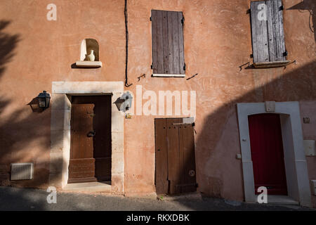 Doors in the village of Rousillion, France - Stock Image