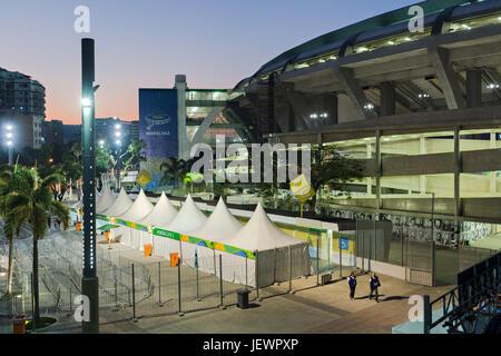 Maracana Stadium by night - Stock Image