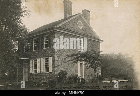 Washington's Headquarters, Isaac Potts House, Valley Forge, Pennsylvania, USA.      Date: circa 1900 - Stock Image