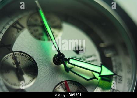Wristwatch displaying 4:20:00 - Stock Image