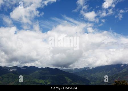 blue sky in mountain area - Stock Image