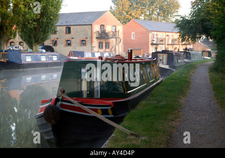 Doug Blane Narroboats morred at Cosgrove on the Grand Union canal - Stock Image