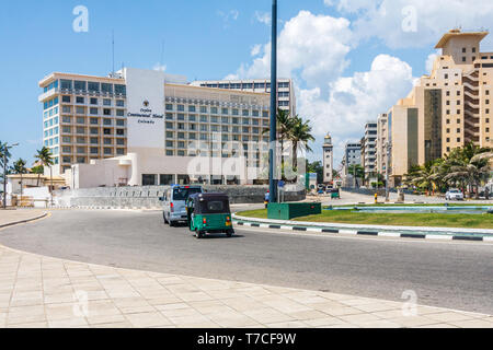 Colombo, Sri Lanka - March 16th 2011: The Ceylon Continental Hotel in the Fort District. The hotel was renamed the Kingsbury in 2013 and was bombed at - Stock Image
