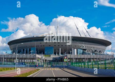 Krestovsky Stadium, Saint Petersburg Stadium, Krestovsky island, Saint Petersburg, Russia - Stock Image