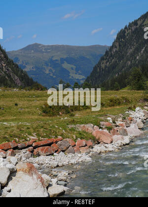 Mountain creek downstream - Stock Image