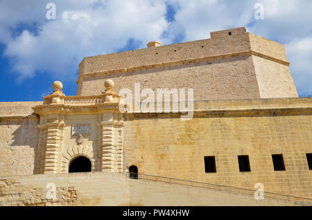 Fort St. Angelo on the Grand Harbour in the Three Cities district of Birgu in Malta - Stock Image
