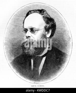 Portrait of Samuel Plimpsol (1824-1898), Insigator of Shipping Saftey legislation and of the Plimpsoll Line on Ships; - Stock Image