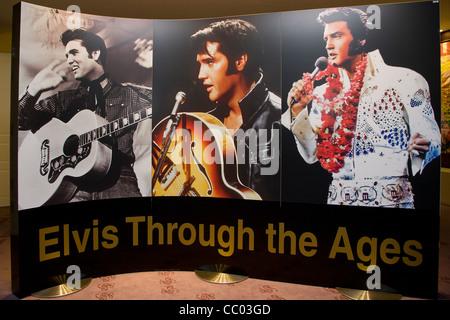 Inside the Graceland Elvis Presley museum in Randers Denmark - Stock Image