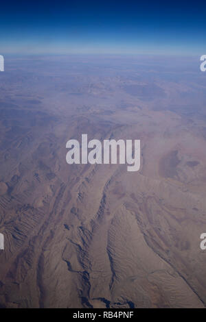 Aerial view of Pakistan from passenger jet, Asia - Stock Image