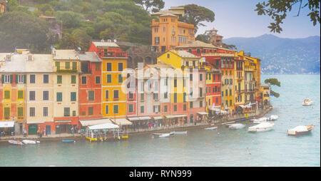 Portofino, Genoa Province, Liguria, Italian Riviera, Italy. - Stock Image