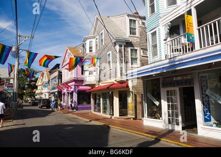 Downtown Provincetown Cape Cod Massachusetts - Stock Image