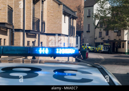 Oxford, Oxfordshire, UK. 7th May 2018, Police incident in Central Oxford Credit: Stanislav Halcin/Alamy Live News - Stock Image