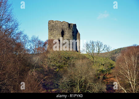 Dolbadarn Castle, close to Llanberis in North Wales, was built in the early 13th century by the Welsh Prince known as Llywelyn the Great. - Stock Image
