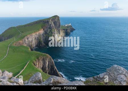 Neist Point Lighthouse, Isle of Skye, Scotland, UK - Stock Image