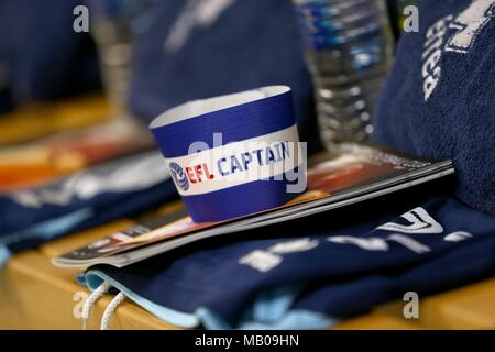Captains arm band during the Sky Bet League 2 match between Barnet and Crawley Town at Underhill Stadium in London. 23 Sep 2017 - Stock Image