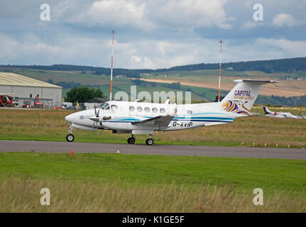 Short Inverness airport stopover before returning back south. - Stock Image