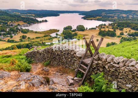 Lake District.Todd Crag. Ambleside. - Stock Image