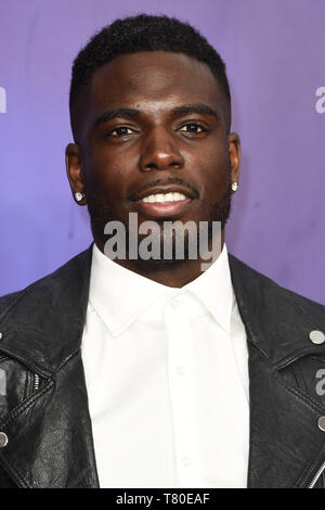 London, UK. 09th May, 2019. LONDON, UK. May 09, 2019: Marcel Sommerville at the 'Aladdin' premiere at the Odeon Luxe, Leicester Square, London. Picture: Steve Vas/Featureflash Credit: Paul Smith/Alamy Live News - Stock Image
