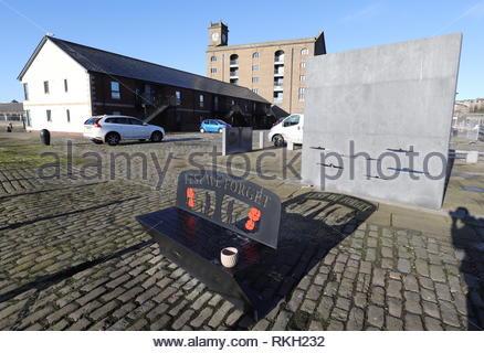 Dundee International Submarine Memorial Dundee Scotland  January 2019 - Stock Image