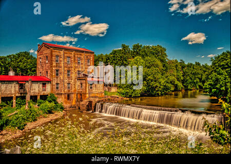 Weisenberger Mill in Midway Kentucky - Stock Image