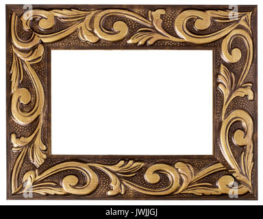 Gold painted Picture frame - Stock Image