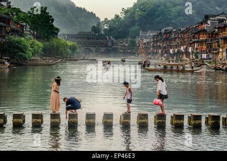 Fenghuang, Phoenix Town, Hunan, China - Stock Image