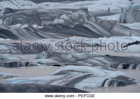 An arm of the Vatnajokull ice field. - Stock Image