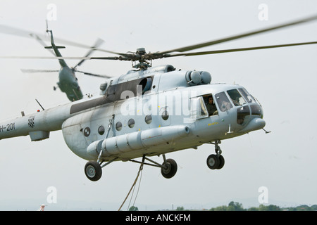 Croatian Air Force Mi-8 MTV-1 helicopters - Stock Image