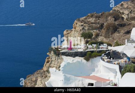 Andronis restaurant , Santorini - Stock Image