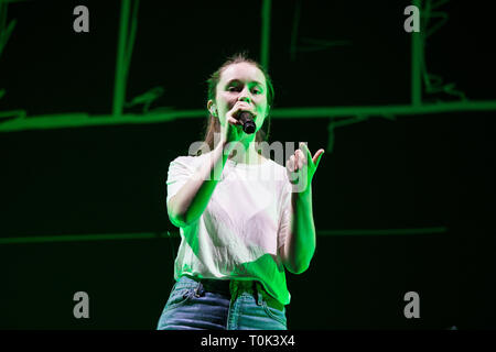 London, UK. 20th March 2019. Sigrid Live at The 02 Arena, Credit: Tom Rose/Alamy Live News - Stock Image