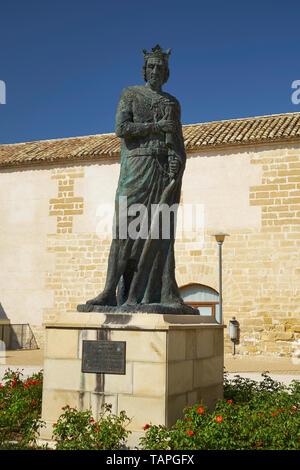 Statue of Fernando III El Santo, King of Castilla y León (1217-1252). Baeza, Jaén province, Andalusia, Spain. - Stock Image