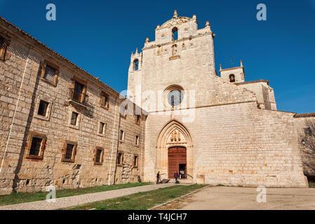 San Pedro de Cardena, Spain - April 14, 2019 : San Pedro de Cardena monastery in Burgos, Castilla y Leon, Spain . - Stock Image