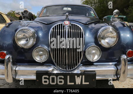 Jaguar Mk2 3.8 (1961), British Marques Day, 28 April 2019, Brooklands Museum, Weybridge, Surrey, England, Great Britain, UK, Europe - Stock Image