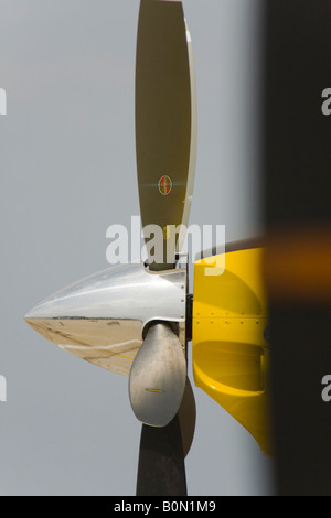 Propeller with spinner - Stock Image